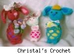 Egg Bunny Kids, by Christal's Crochet - fair use size.
