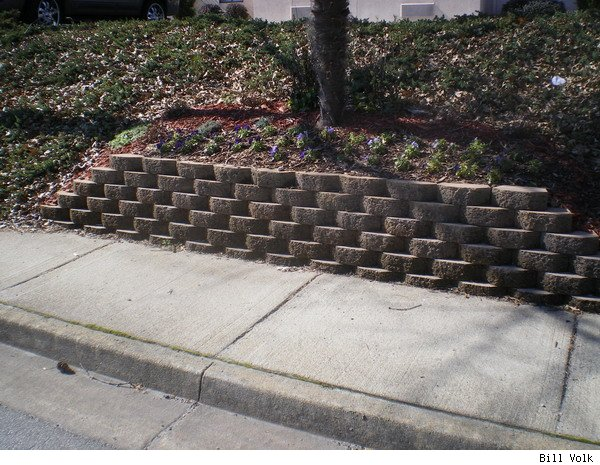 Retaining Wall Block With Pins : Pin the area for anchor windsor stone retaining wall