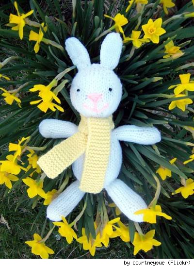Jess Hutchison's bunny pattern, made by Flickr user CourtneySue.