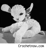 Vintage Stuffed Lamb crochet pattern, from CrochetNow.com. Fair use size.
