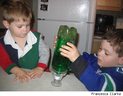 Homemade lava lamp for kids