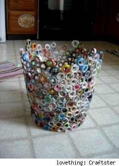 Handmade Craft Ideas Reuse Household Items on Can By Lovething Craftster The Best Recycled Crafts For Earth Day