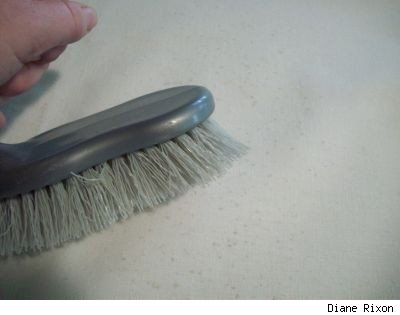 Gently brush fabric