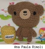 Bear and honey jar amigurumi, by Ana Paula Rimoli