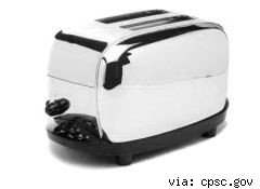 recalled Salton toaster