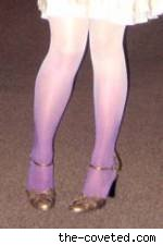 Dip-dyed tights by Jennine from The Coveted. Fair use size.