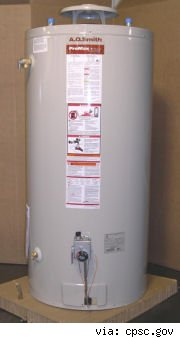 A.O. Smith recalled water heater