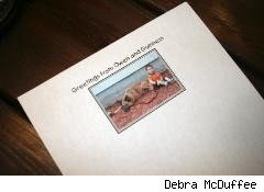 stationery with photo of boy and dog