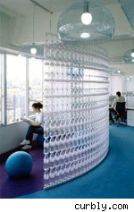 water bottle wall divider