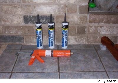 Caulk and a dripless caulking gun