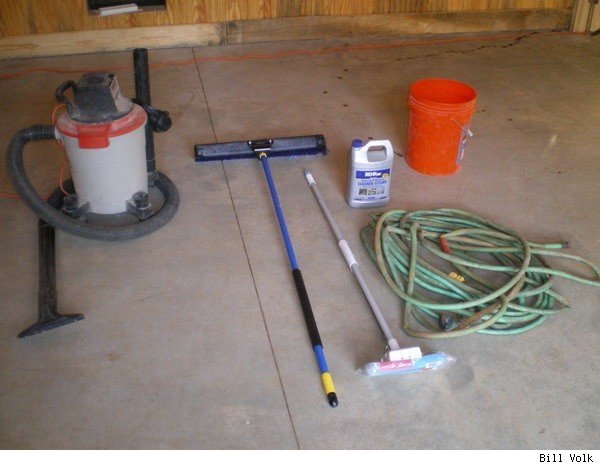 The floor prep tools.