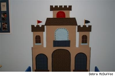 fabric castle wall hanging