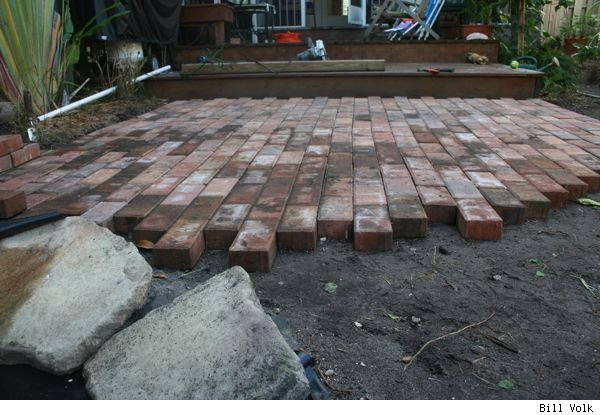 how to build your own concrete patio fireplace