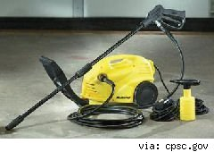 recalled master craft pressure washer
