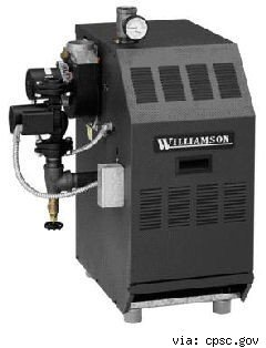 williamson recalled gas boiler