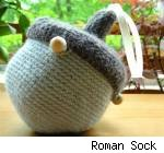 Acorn yarn holder by Roman sock