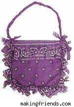 purple bandana tote bag