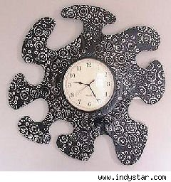 amoeba-shaped clock