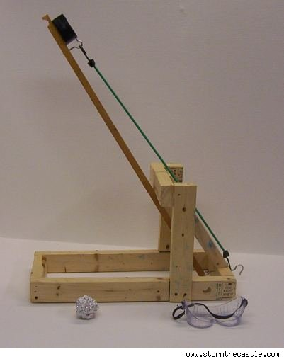 simple catapult design. home-made catapult