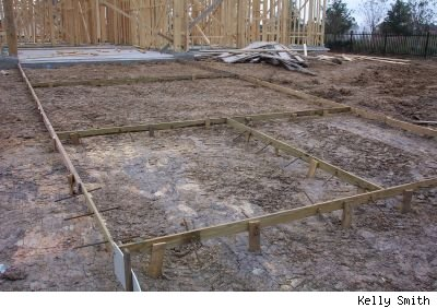 frame for patio slab