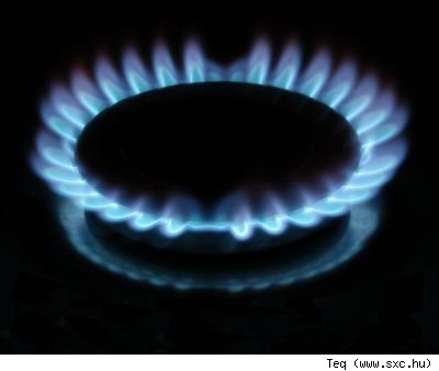 A gas range in the dark