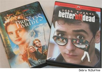 DVDs of Princess Bride and Better Off Dead