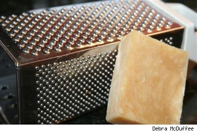grater and bar of soap