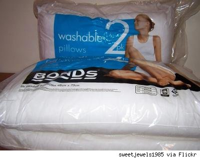 2 brand new pillows, still in their plastic packaging