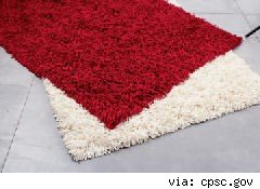 red and white shag rugs