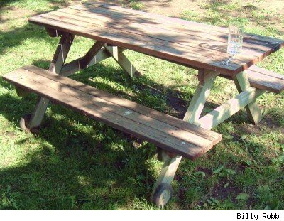 picnic table with wheels