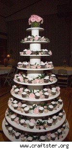 six-foot tiered cupcake tree