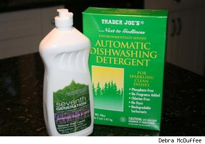 Seventh Generation and Trader Joe's green dishwashing products
