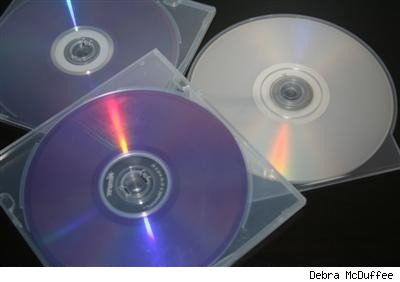 three blank CDs