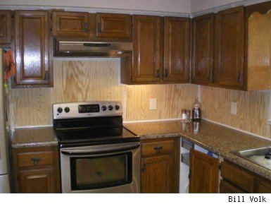 kitchen bead board wall covering