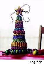 colorful pasta tree centerpiece