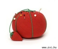 tomato pincushion with strawberry