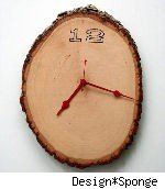 woodburned clock