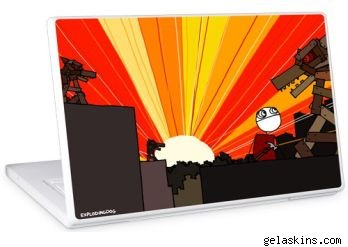 Rising sun laptop skin design from Gelaskins.