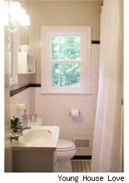 bathroom, shower-curtain, makeover