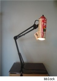 spray paint, lamp, krylon, lighting