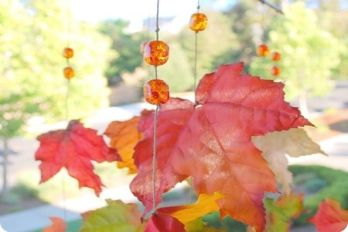 Whimsical Autumn Leaves Windcatcher, source: Centsational Girl