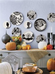 halloween, black, white, pumpkin, fall decor
