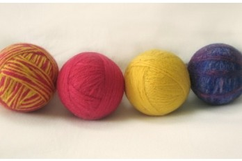 wool, yarn, dryer ball