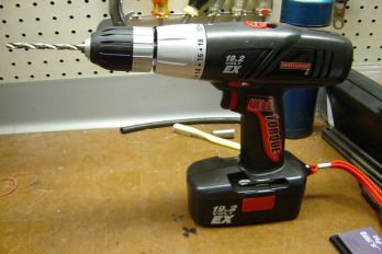 Cordless electric drill, Flickr.