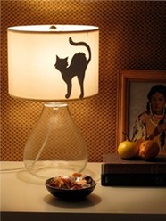 cat, silhouette, diy, tutorial, lighting, lampshade