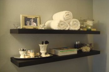 Bathroom shelving, source: made 2 cREate