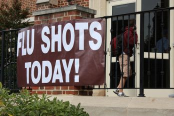 Flu shot banner, Flickr.
