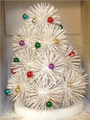 holiday tree, toothpick tree, ornaments