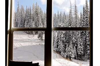 window, winter, trees, cold, snow