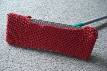 Knitted Swiffer duster mop replacement pad.